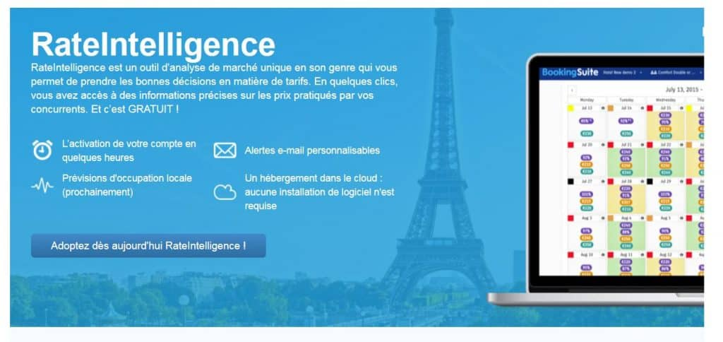 rate intelligence booking com location saisonniere