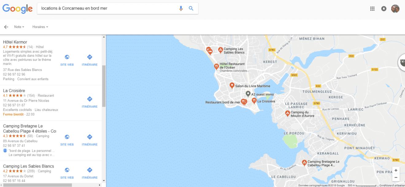 google location vacances concarneau