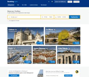 site de réservation en ligne booking