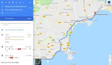 partage de position dans google maps