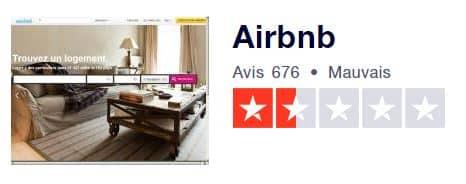 La note de Airbnb sur le site Truspilot pourtant réputé fiable est quelque peu décevant... les commentaires laissent largement transparaître les arnaques à la location saisonnière et la sécurité
