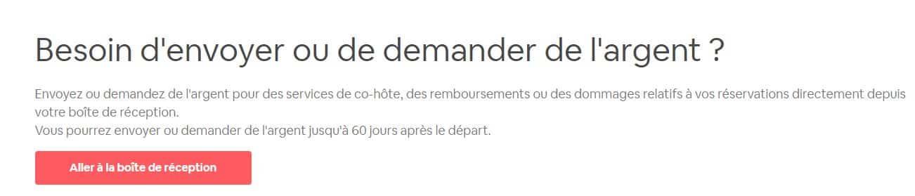 Interface du centre de résolution d'Airbnb (source ici)