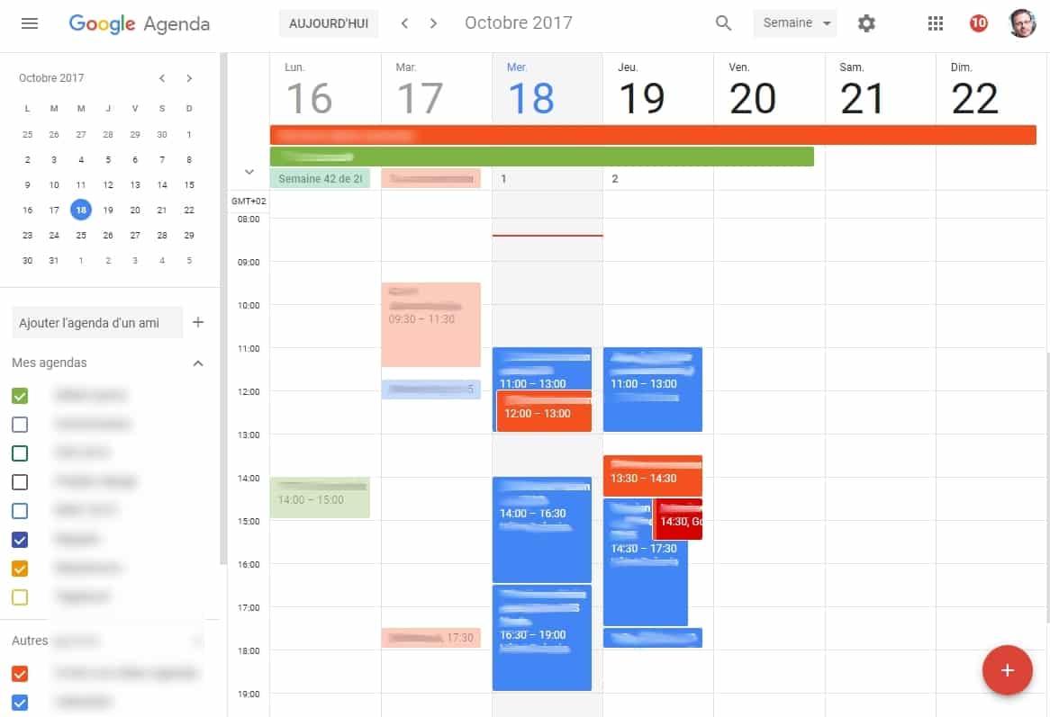 Google calendrier