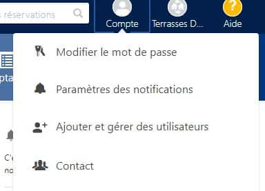 Compte Booking ajouter et gérer des utilisateurs