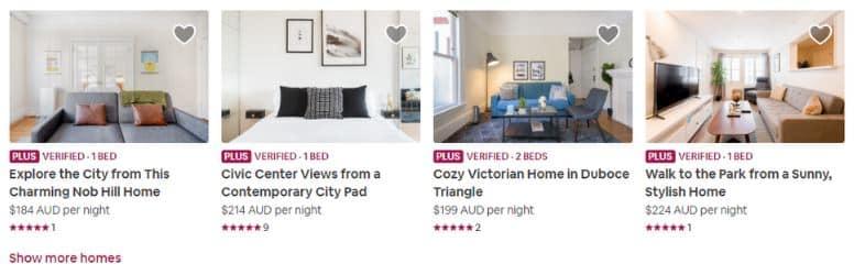 Annonces du programme Airbnb Plus