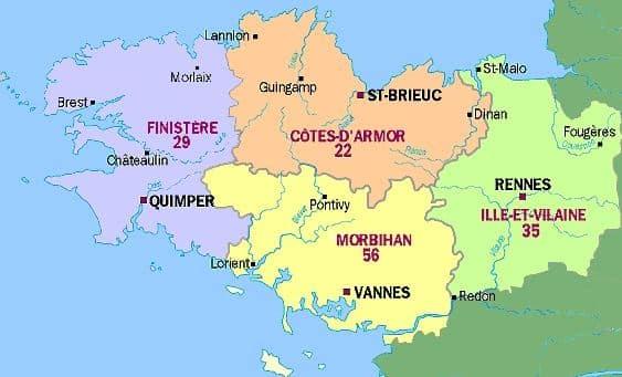 Meilleurs départements de la Bretagne au peigne fin