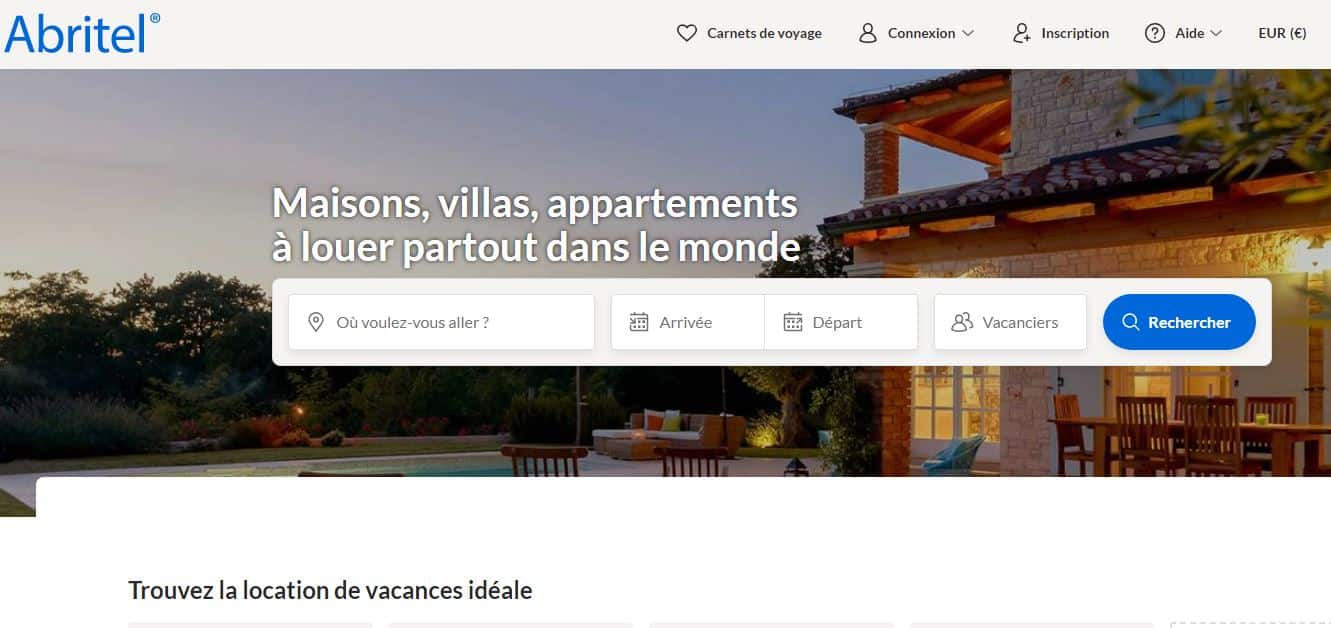 page accueil vrbo