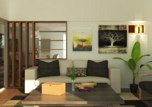 décoration salon airbnb